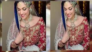 Sanam jung bridal look with Zahid Ahmed their set of Drama Serial