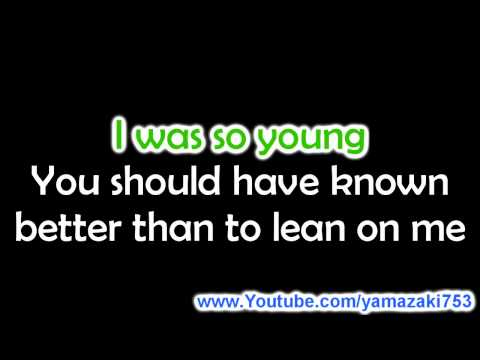 Kelly Clarkson - Because Of You - Karaoke video