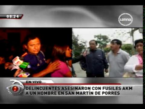 Vecinos de San Martín de Porres piden presencia policial para evitar mas crímenes