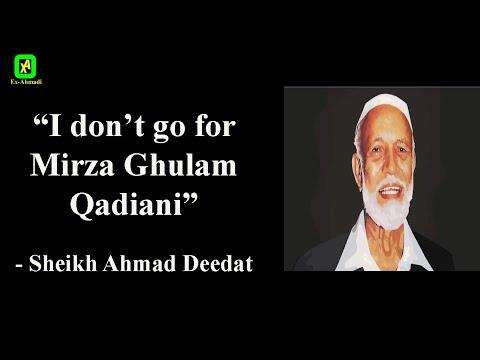"[HQ] ""I don't go for Mirza Ghulam Ahmad Qadiani"" - Sheikh Ahmad Deedat"