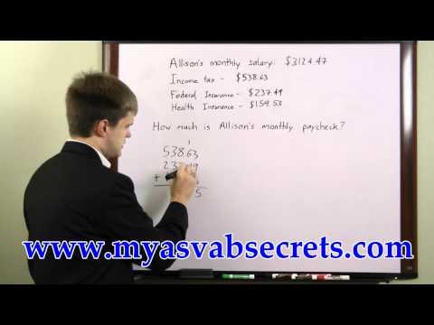 ASVAB Math Problems -  Free ASVAB Studying Basics