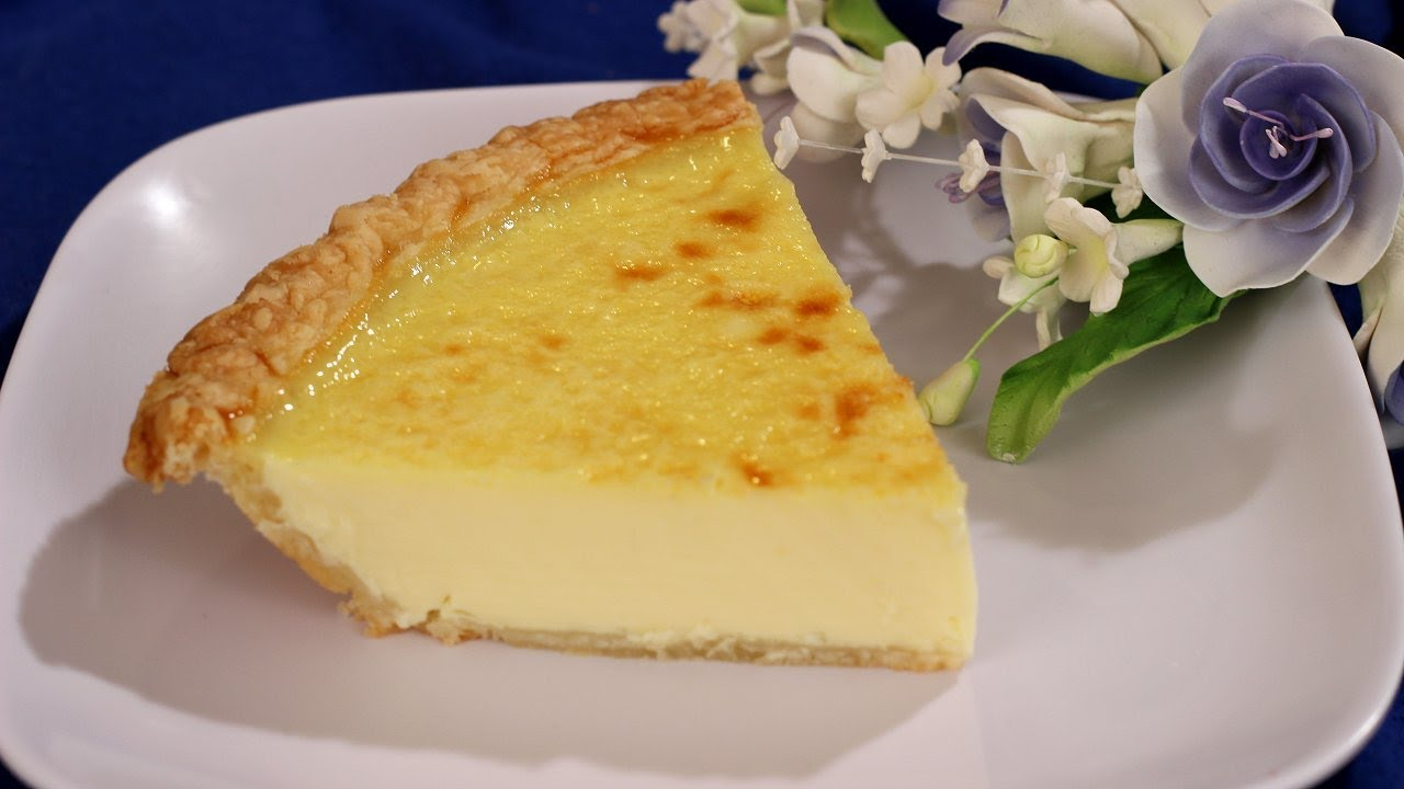 Old Fashioned Custard Pie Recipe - YouTube