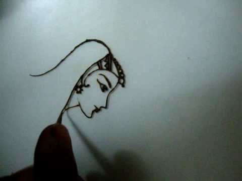 How to draw Dulhan(Bride) with Mehendi(Henna) by Rajeswari Mahesh