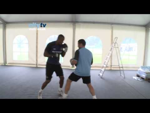 CITY IN AUSTRIA 12: Vincent Kompany boxing