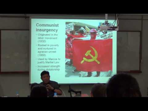 Julio Teehankee talks about the peace process in the Philippines in Chiang Mai, June 10, 2012