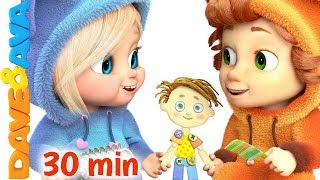 ❤️ Pin Pon   Nursery Rhymes Collection   30 min   Songs for Babies from Dave and Ava ❤️