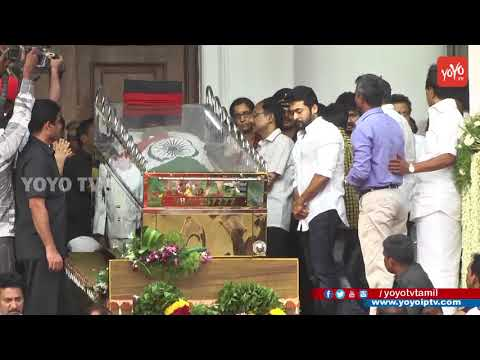 Surya Pays Tribute to Karunanidhi | Rajaji Hall - Chennai | Tamil Nadu | YOYO TV Channel