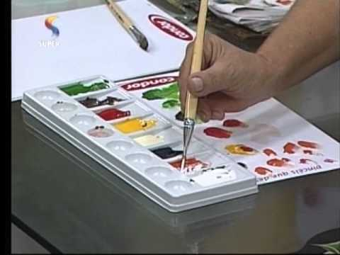 Pintura de Flores na Madeira - Hora de Arte - Parte 2/2