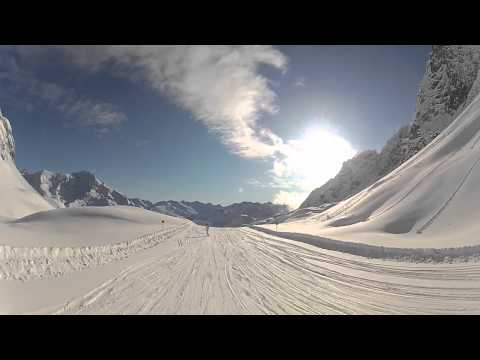 Skifahren mit GoPro HD 2 Helmkamera in Zrs