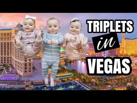 Epic Road Trip: The Triplets Conquer Las Vegas