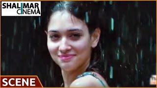 Rachaa - Racha Movie || Tamanna Romantic Bathing Scene || Ram Charan, Tamanna