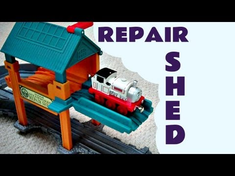 Take N Play Sodor Thomas The Train Steamworks Repair Shed Kids Toy train Set Thomas The Tank