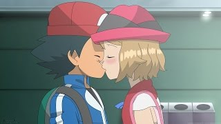 Ash and Serena Kiss Scene Uncensored! [English Dub] (Fanmade)