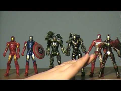 Iron Man 2: K-Mart Exclusive Advanced Tactical Armor Three Pack Review