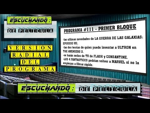 Escuchando: DE PELÍCULA #111 - 1er BLOQUE - Los 4 fantasticos / Constantines / Star wars 7 / Flash