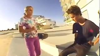 Angry lady children ina skateboards confiscated mp4