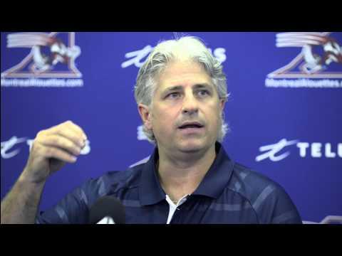 Conférence de presse : Jim Popp parle de ses nouvelles fonctions avec les Alouettes