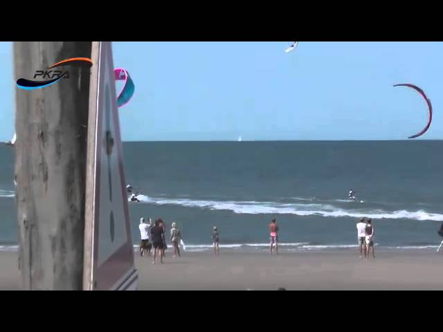 Final Race of Women's Slalom Round 3 at the Think Blue Kitesurf World CupDay Womens Final Round 3