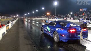 Three EPIC Supra's tear up the drag strip! - Real Street Performance