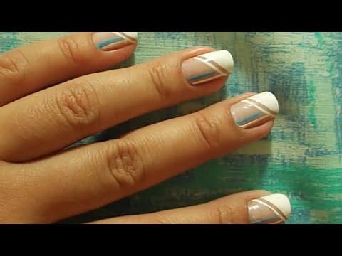 Unhas decoradas: Para unhas curtas (efeito alongado)