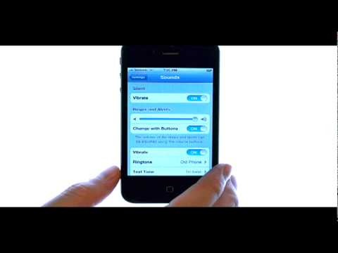 How Do I Put My Apple iPhone 4S On Vibrate Or Silent Mode?