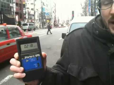 Geiger Counter Reading from Tokyo at 4pm, 3/17/2011