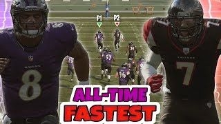 KICK RETURN CHAOS - FASTEST QB'S OF ALL TIME EDITION!! Madden 19 Mini Games