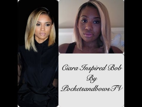 Ciara Inspired Platinum Blonde Bob!