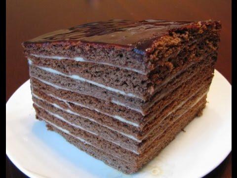 ПП тортик.  Шоколадный торт с заварным кремом