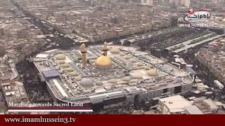 Arbaeen Events  | Heli-shots from Karbala in Arbaeen Ziyarat 1436 | 8/12/2014