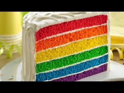 How To Make Rainbow Shaped Cake