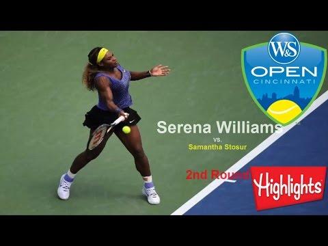 Serena Williams vs Samantha Stosur*Cincinnati*R-2-Highlights-2014
