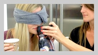 STAR WARS COFFEE-MATE BLINDFOLD TASTE TEST! | iJustine