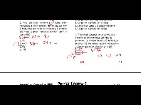 2. RAZONAMIENTO MATEMÁTICO. CENEVAL