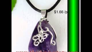 how to buy wholesale Semi precious stone necklaces pendants jewelry cheap fashion jewellery