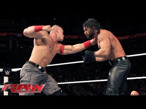 John Cena Vs. Seth Rollins: Raw, December 22, 2014 video