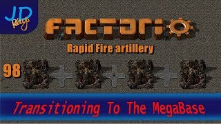 Factorio 0.16 Transitioning to the MEGABASE EP98 Rapid Fire artillery