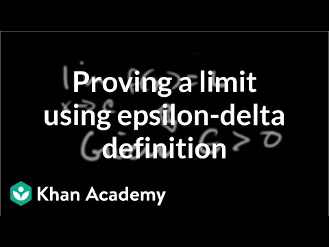 Proving a limit using epsilon-delta definition