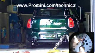 PROMINI - MINI COOPER S Countryman Dyno Test with Performance Supersprint Exhaust