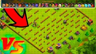 EVERY TROOP VS MAZE BASE! - Clash of Clans - CAN EVERY TROOP IN CLASH WIN?
