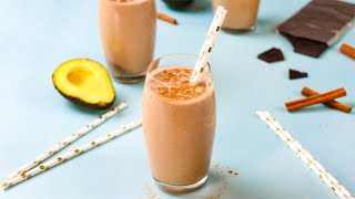 "Keto Chocolate Avocado Smoothie Recipe - ""Super Healthy"" Potassium Omega 3s & Collagen (2g Net Carb)"