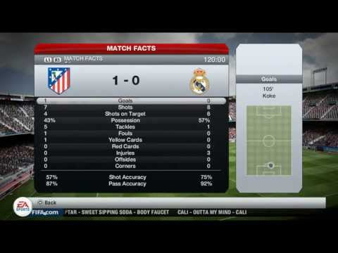 Real Madrid-Atletico Madrid 1-2 All Goals & Highlights 2013.05.18. FINAL (Prediction on FIFA 13)