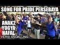 GILAK !!! ANAK YOGYA HAFAL SONG FOR PRIDE PERSEBAYA -- VERSI ANGKLUNG RAJAWALI MALIOBORO