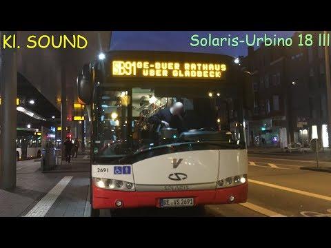 (Kl.SOUND) RE-VS-2691 (KOM 2691) Solaris-Urbino 18-lll Vestische Strassenbahnen by BusFreak11