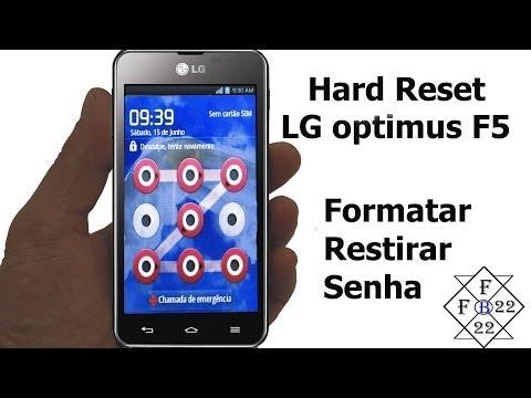 Hard Reset LG Optimus F5 Desbloquear Senha Padrão
