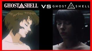 【攻殼機動隊】 Ghost in the Shell 1995 vs 2017【電影片段比較| 半瓶醋】