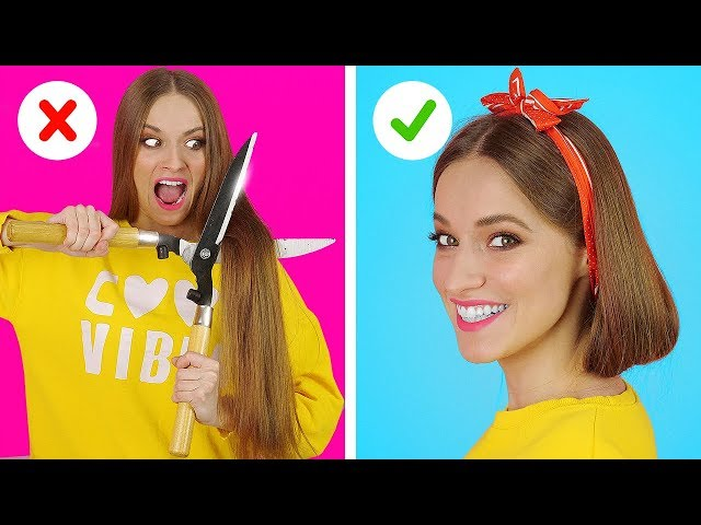 BRILLIANT HAIR HACKS AND TIPS  Funny Hair Situations And Problems by 123 GO!