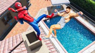 EPIC GTA 5 SPIDERMAN MOD! (Ragdolls & Fights)