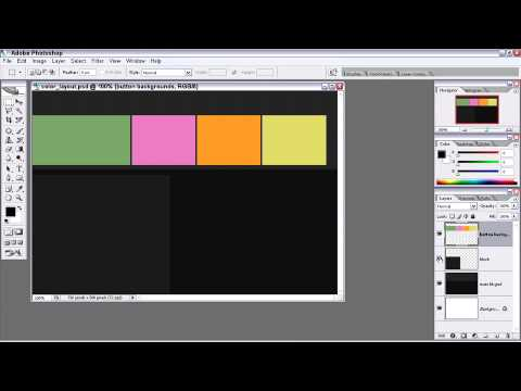 Adobe Photoshop Color layout P1 Video