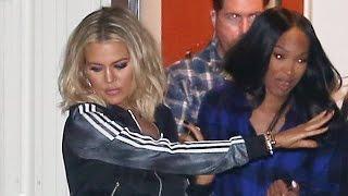 Khloe Kardashian Dodges Questions About Kim's Plastic Surgery